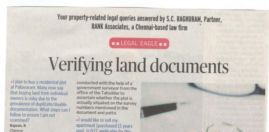 Verifying Land documents