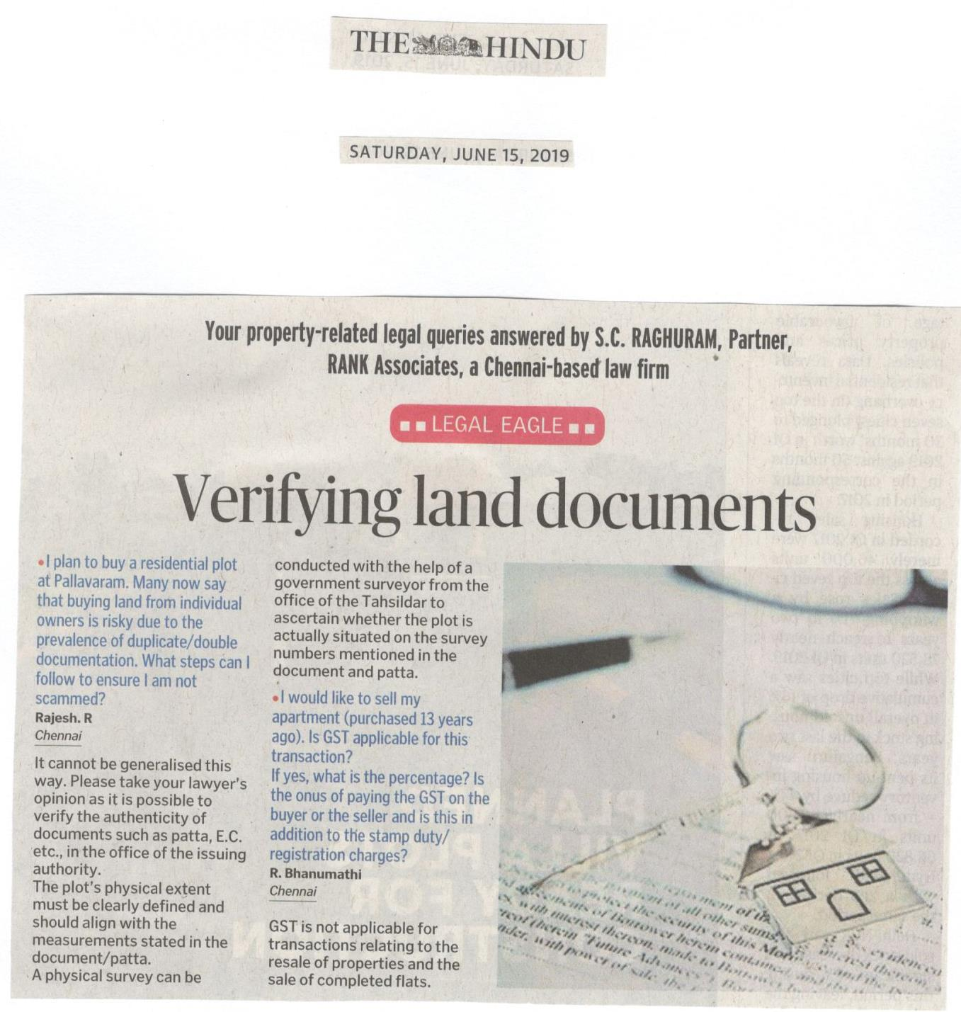 Verifying Land documents